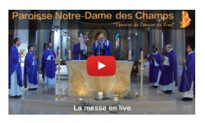 Permalien vers:Messe en direct ou en replay (différé), semaine 18h15, dimanche 11h